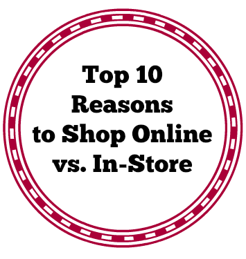 Shop Online vs In store.....